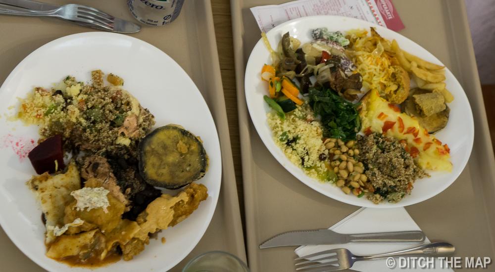 Eating dinner in Rio de Janeiro, Brazil