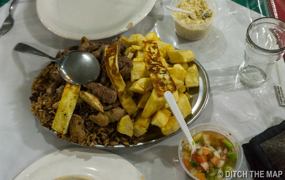 Our dinner at Sao Cristovao Fairgrounds in Rio de Janeiro, Brazil