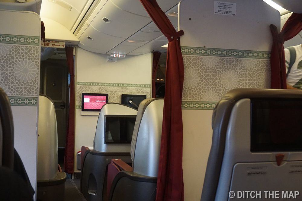 Inside the Royal Air Maroc Cabin