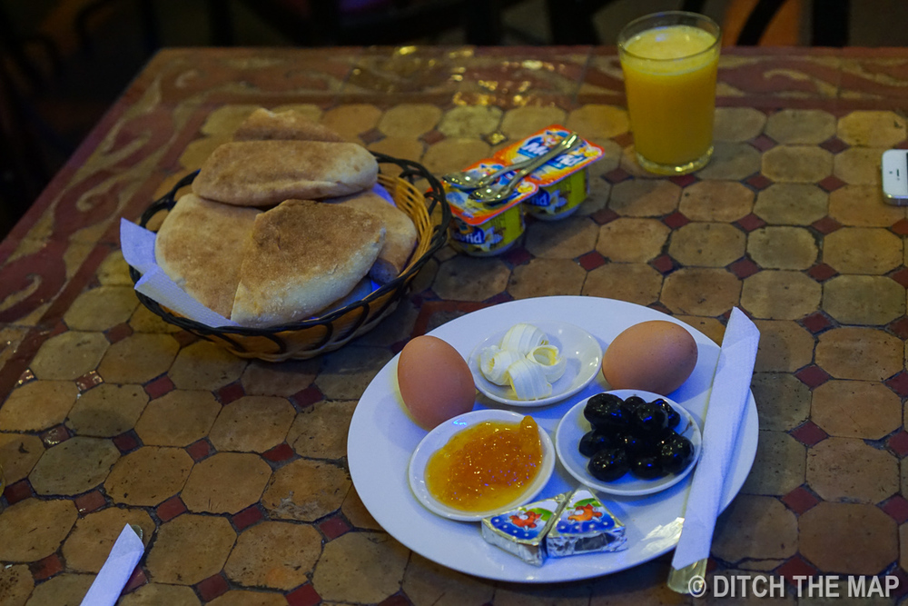Our Breakfast in Casablanca, Morocco