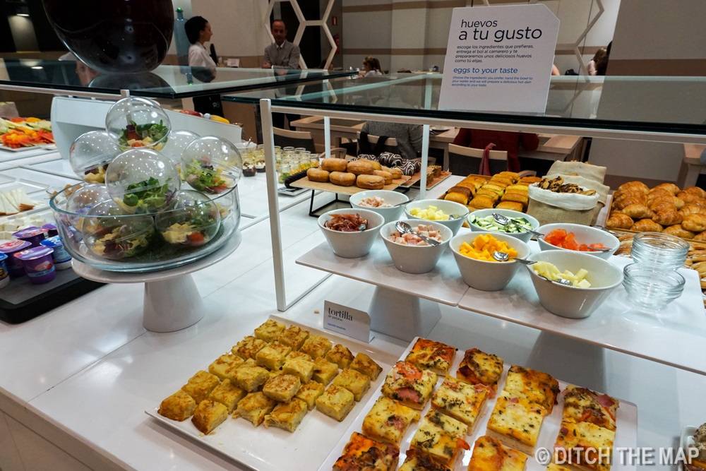 Breakfast buffet in Seville, Spain