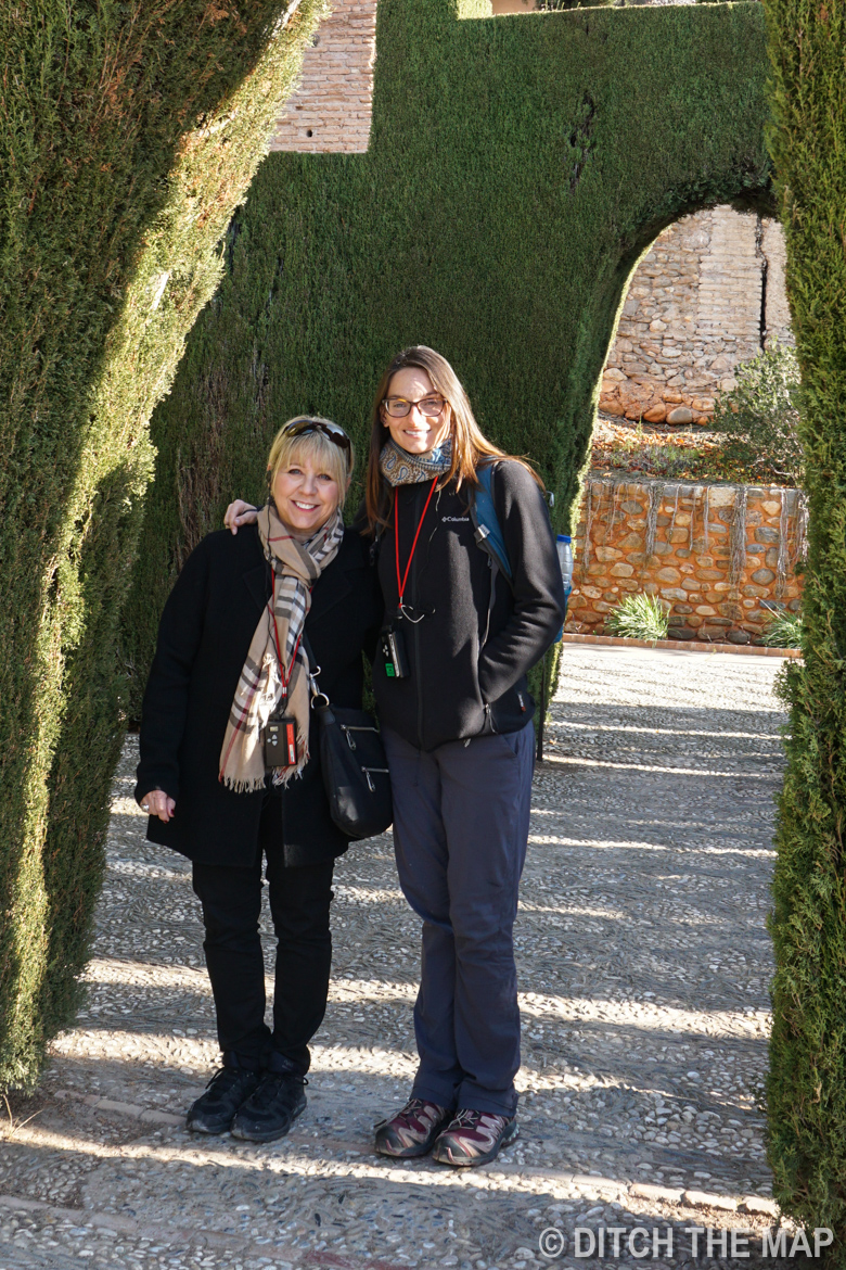 In the gardens of The Alhambra in Granada, Spain
