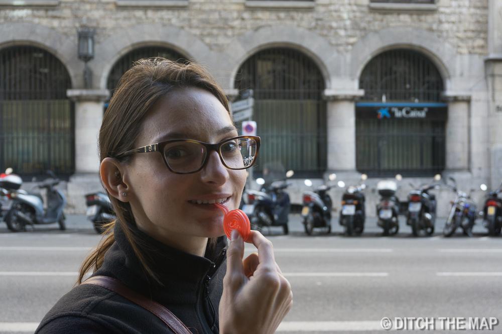 Midday snack in Barcelona, Spain