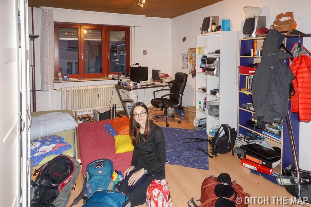 Our Couchsurfing Room in Heidelberg, Germany