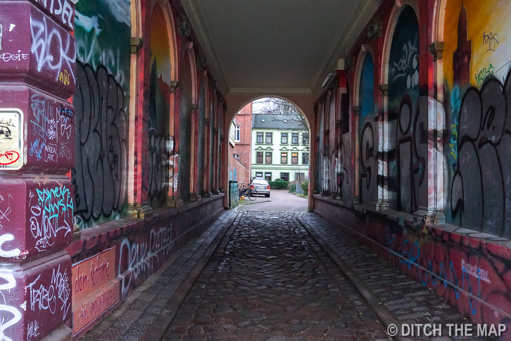 Graffiti all over the city in Hamburg, Germany