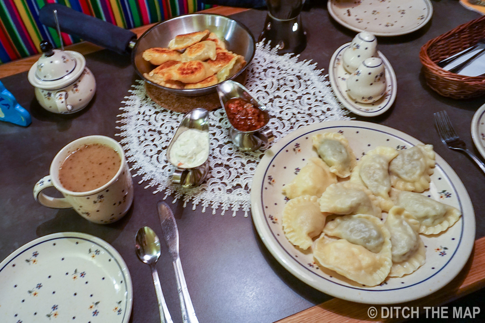 Our Pierogi dinner in Warsaw, Poland