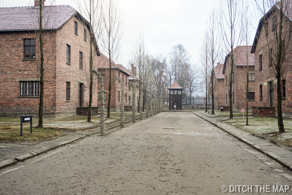 Existing Barracks now used as Museums in Auschwitz, Poland