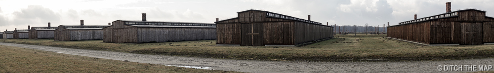 Barracks at Auschwitz II, Poland
