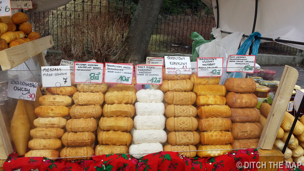 Polish Smoked Cheese in Zakopane, Poland