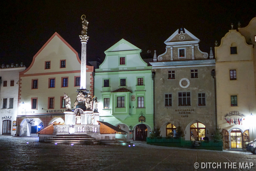 Night in  Cesky Krumlov, Czech Republic