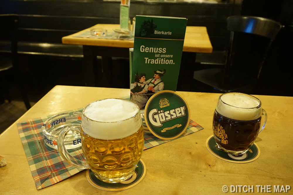 Gösser Bierklinik - Having a beer in the oldest restaurant in Vienna, Austria