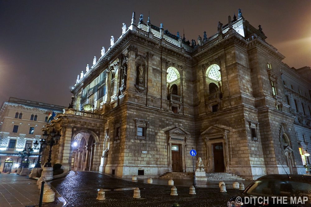 At Night in Budapest, Hungary