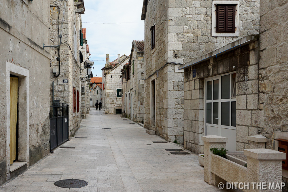 Alleyway of Typical Street in Split, Croatia