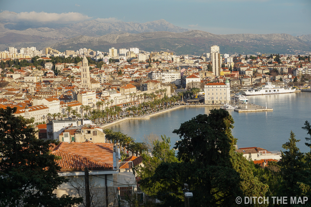 View from the park in Split, Croatia