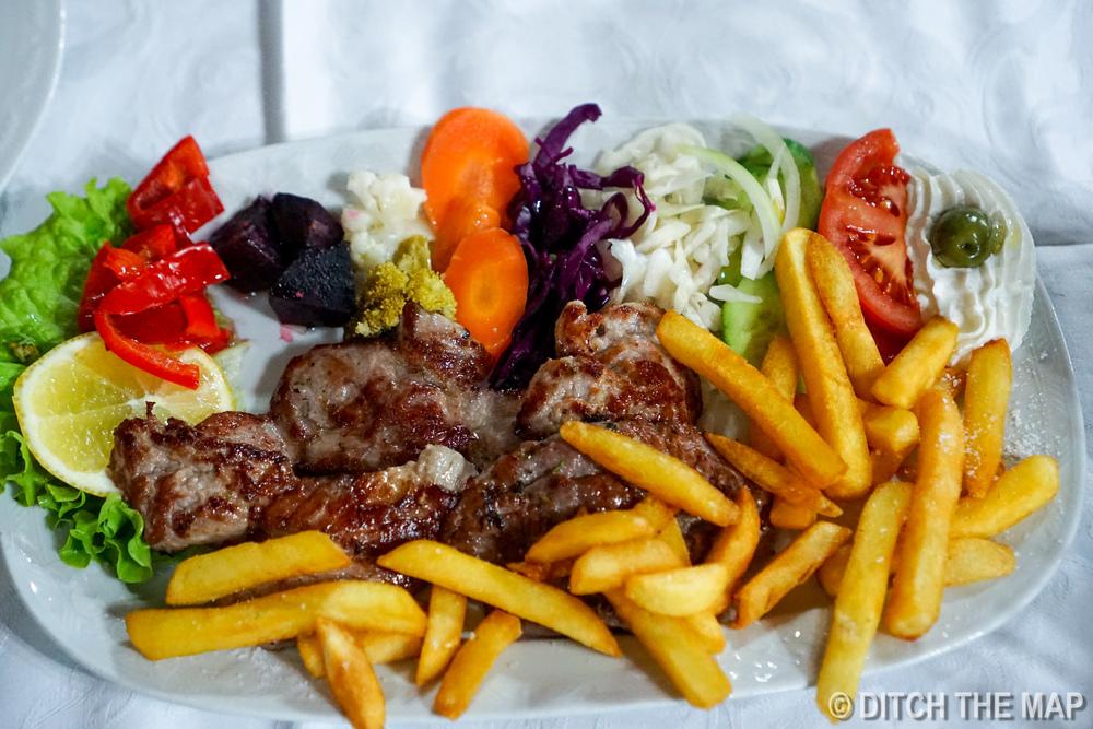 Dinner in Berat, Albania