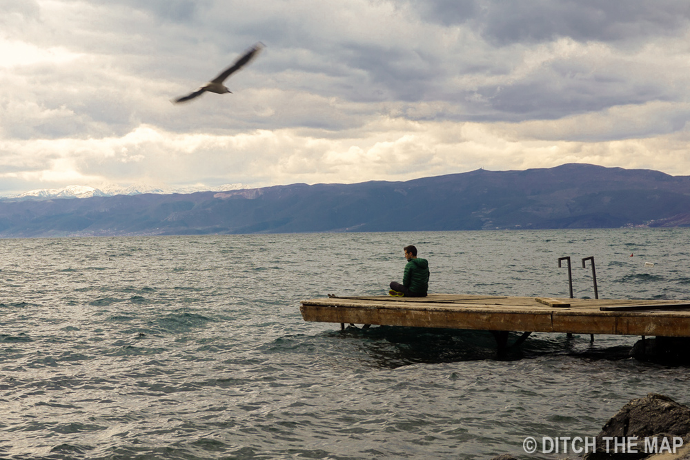 Taking in Lake Ohrid in Macedonia