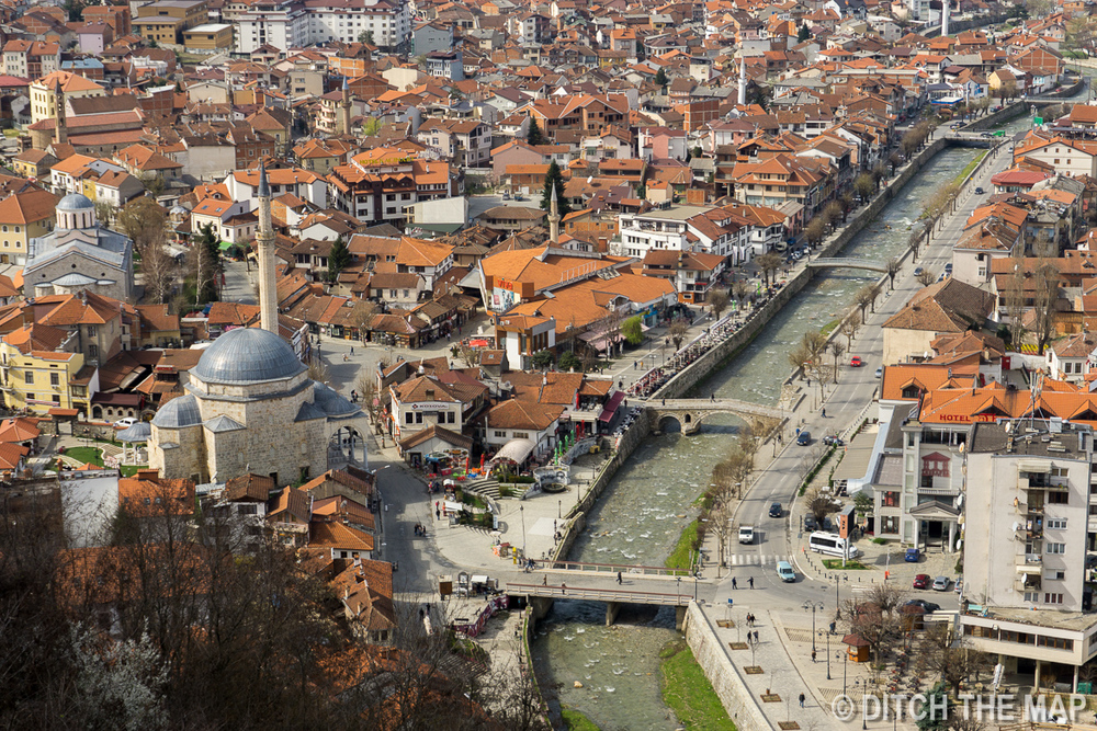 View of the city from the fortress of Prizren, Kosovo