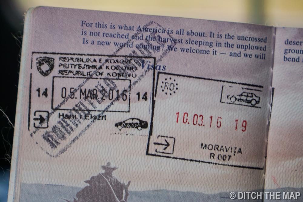 Nullified Kosovo Stamp in Passport