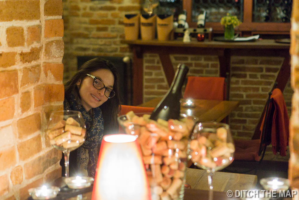 Eating Dinner in Sibiu, Romania