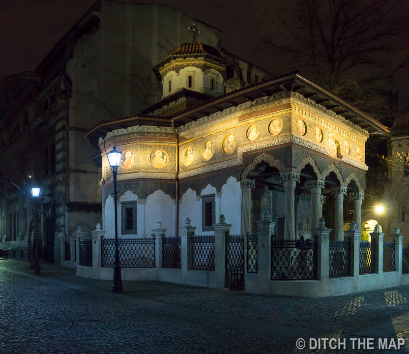 Around Old Town in Bucharest, Romania