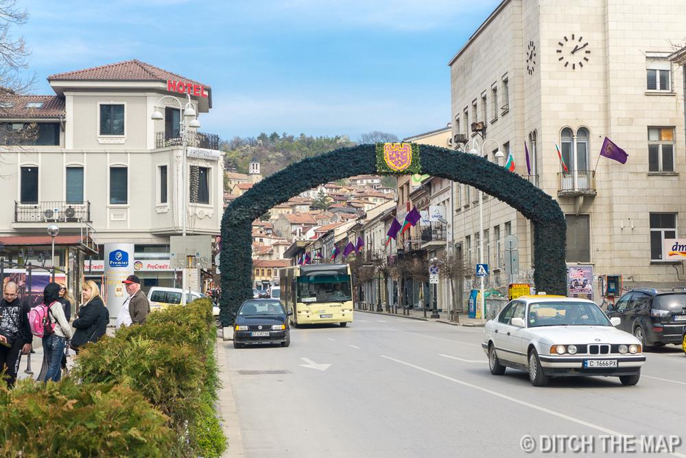 Main street in Veliko Tarnovo, Bulgaria
