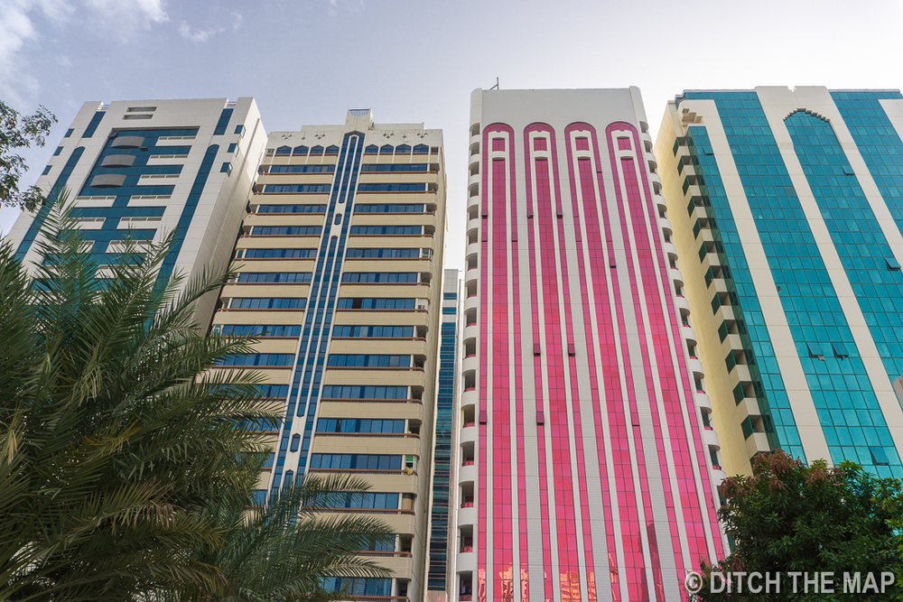 Buildings in Abu Dhabi, UAE
