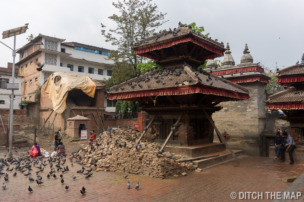 Durbar Square After the 2015 Earthquake in Kathmandu, Nepal