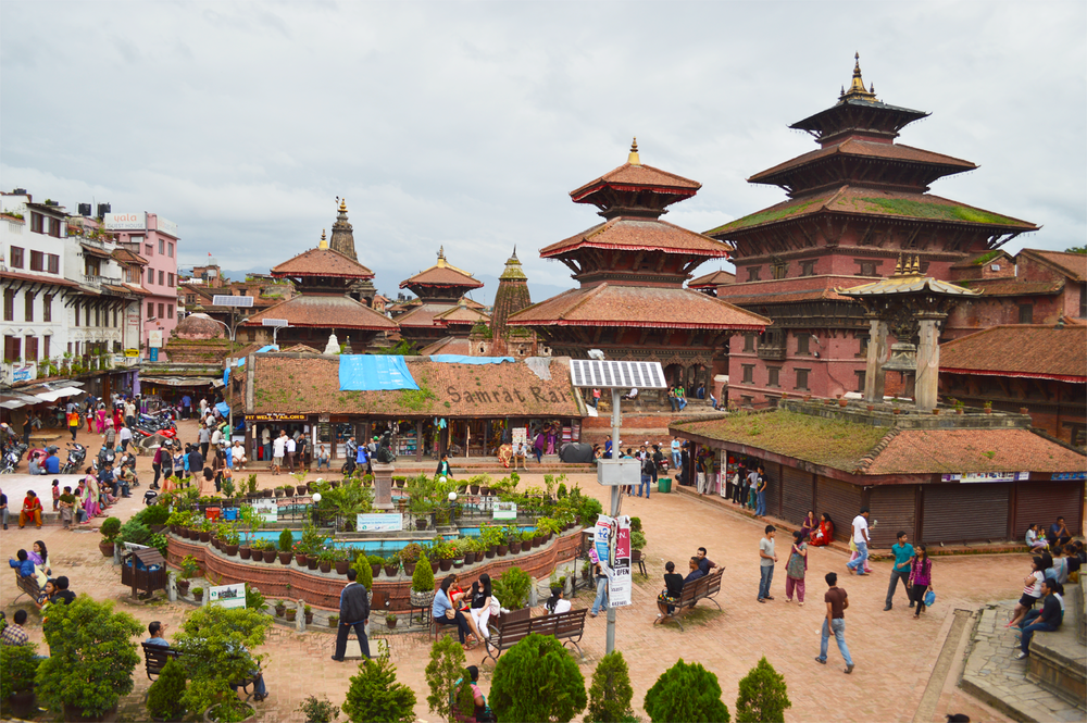 Durbar Square before the 2015 Earthquake in Kathmandu, Nepal