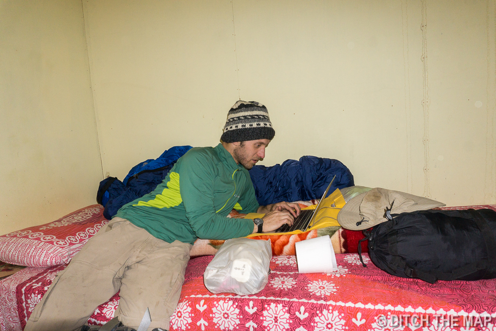 Writing parts of this blog in Lobuche