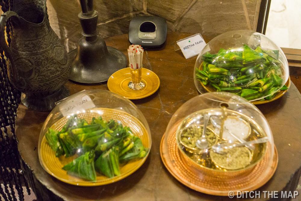 Fancy platter of Paan at restaurant in Kolkata, India