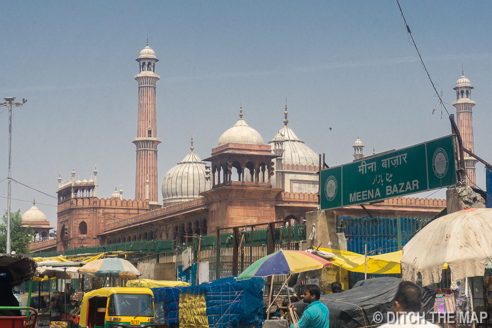 View of Jama Masjid in Delhi, India