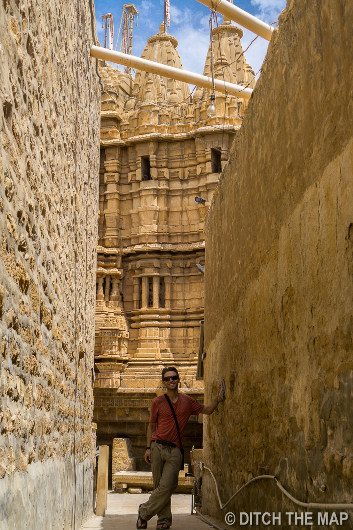 Walking Around in the Jaisalmer For with the Jain Temple in the Background, India