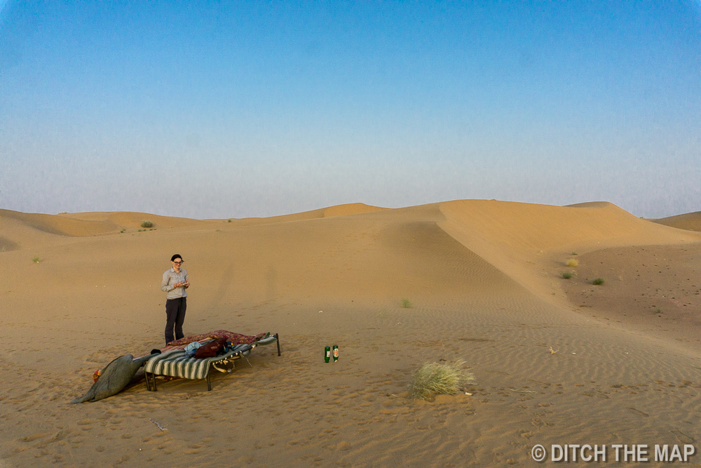 Our Sleeping Arrangements in the Thar Desert, India