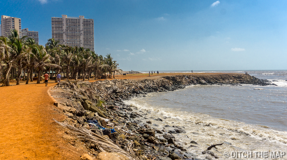 Coast at Malagar Hill in Mumbai, India