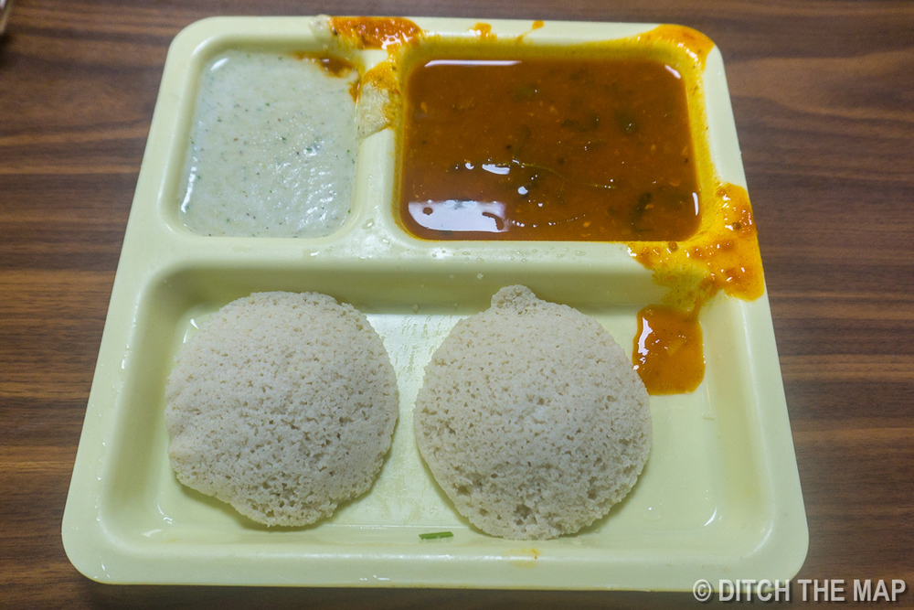 Trying a Southern Indian Dish '  Idli  ' at a Train Station in Mumbai