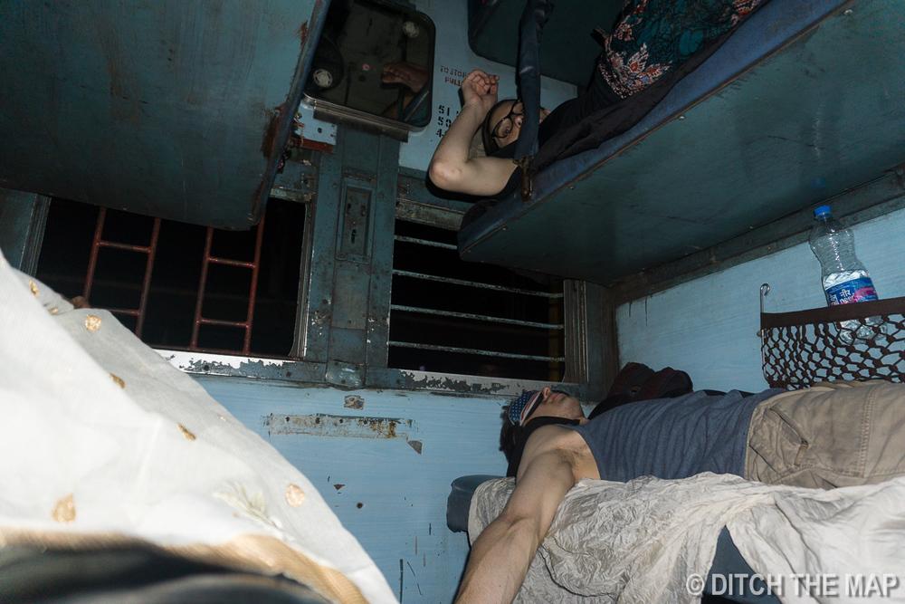 Taking an overnight train to Goa, India