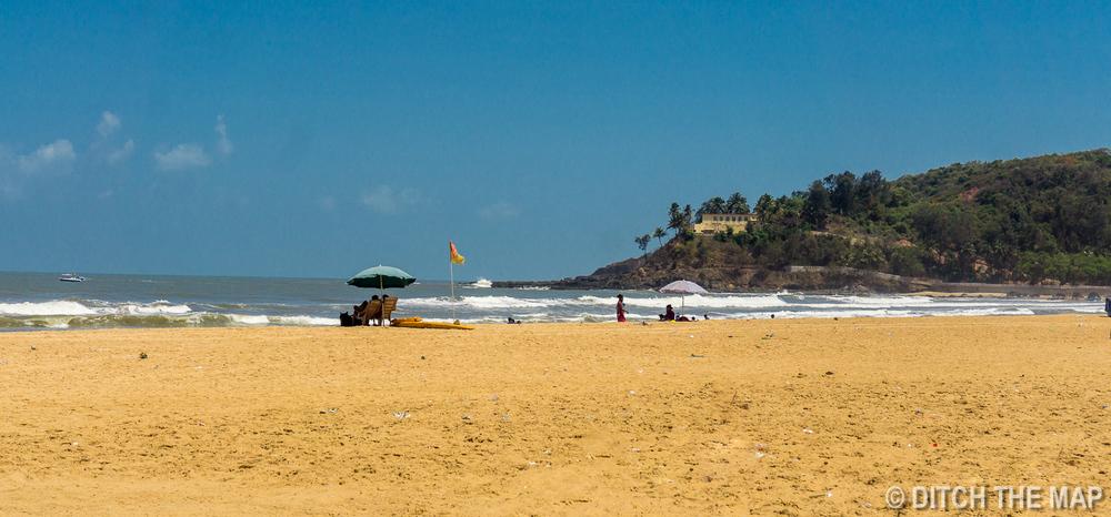 Baga Beach in Northern Goa, India