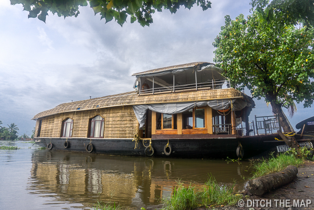 The houseboat we rented for 2 nights in Appelley, India