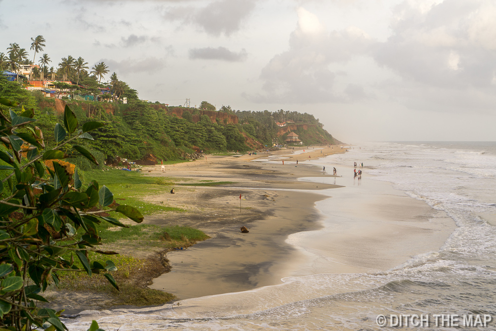 Varkala Beach in South Kerala, India