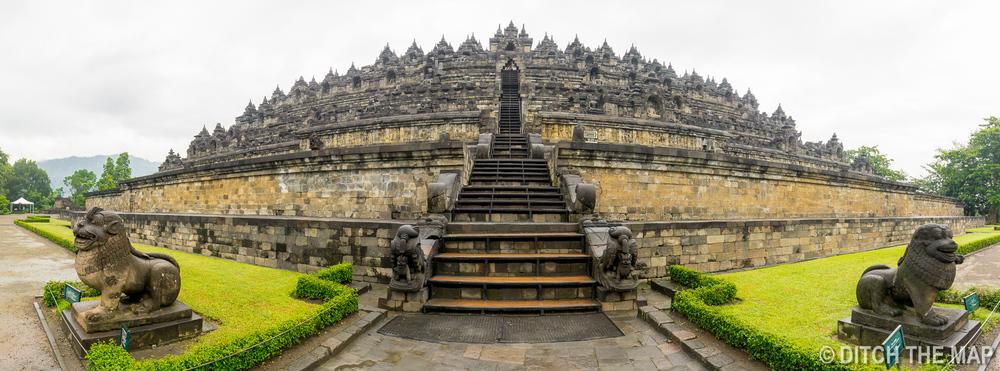 Borobudur Temple near Yogyakarta, Indonesia