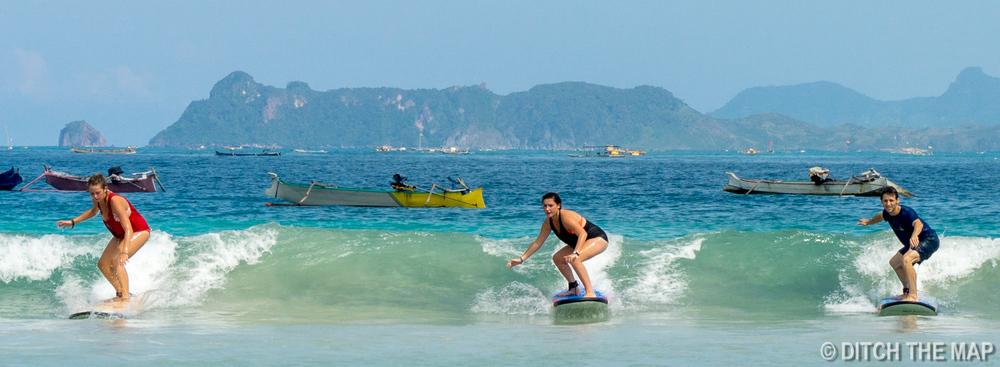 A Three-Way Surf-Off at Selong Belanak Beach, Lombok, Indonesia