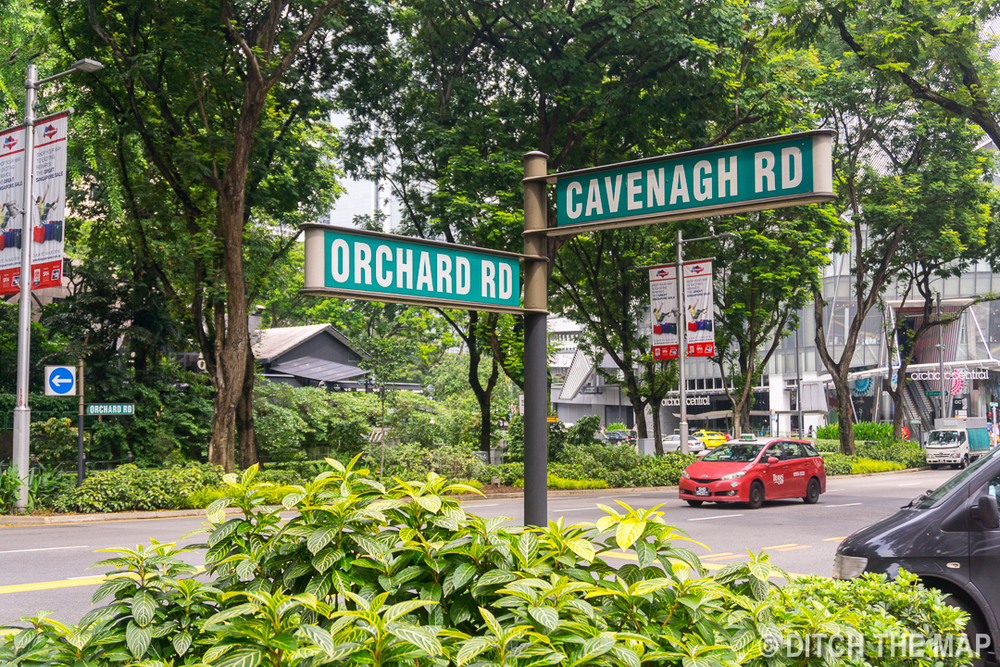 Orchard Street in Singapore