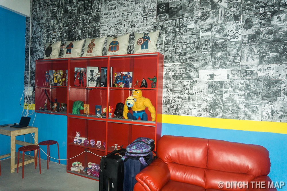 Our Hero-Themed Hostel Room in Kuching, Sarawak, Borneo, Malaysia
