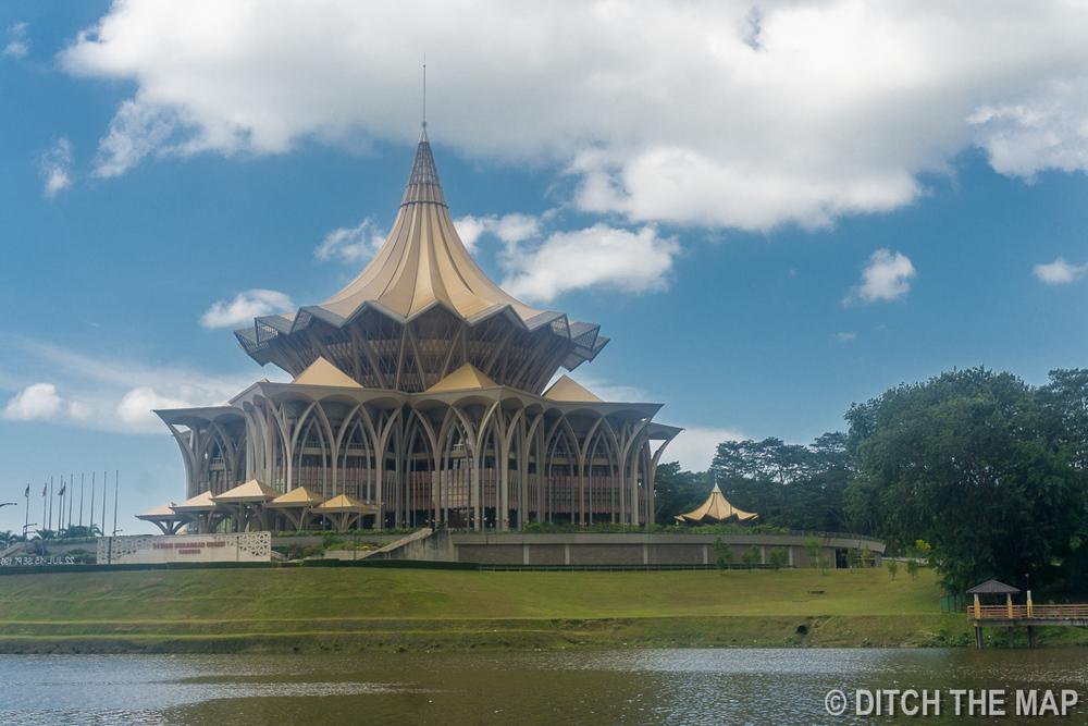 Along the waterfront of Kuching, Sarawak, Borneo, Malaysia