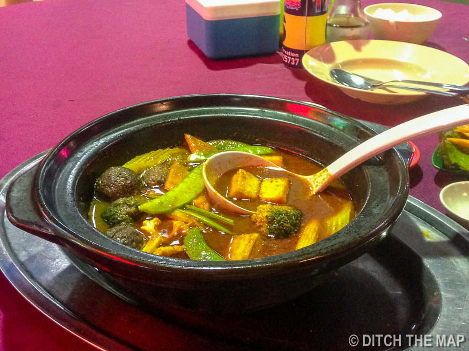 Vegetable Soup in Kuching, Sarawak, Borneo, Malaysia