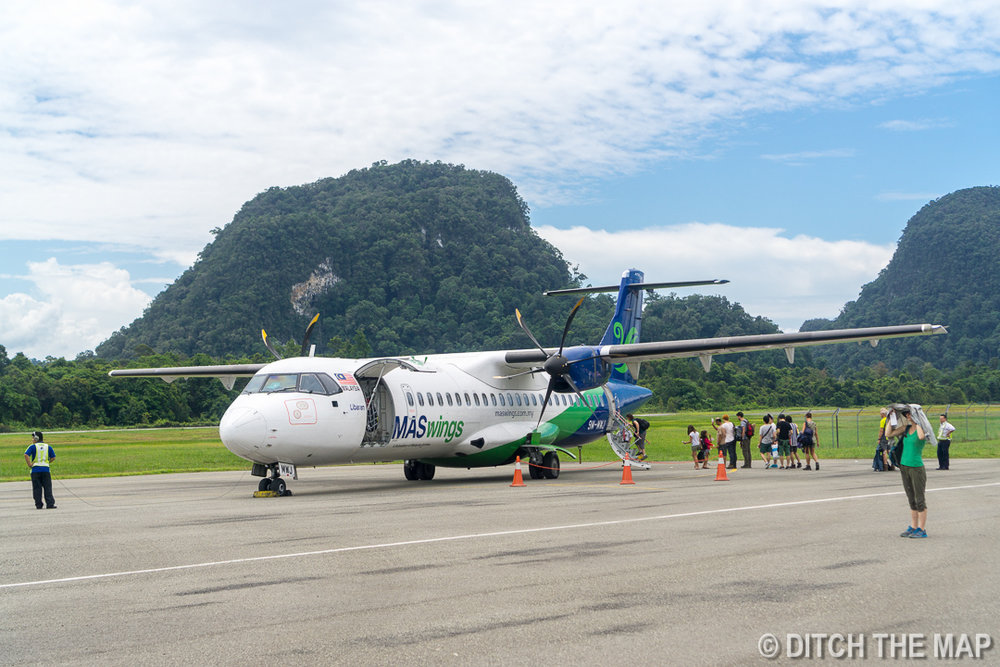 Mulu Airport in Sarawak, Borneo, Malaysia