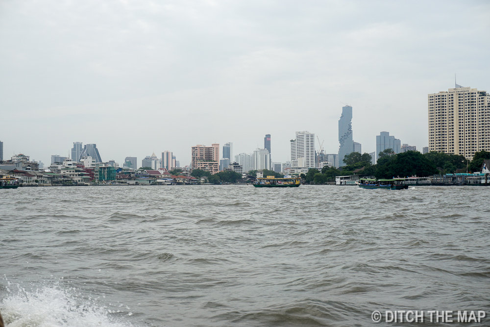 Taking a Ferry in Bangkok, Thailand