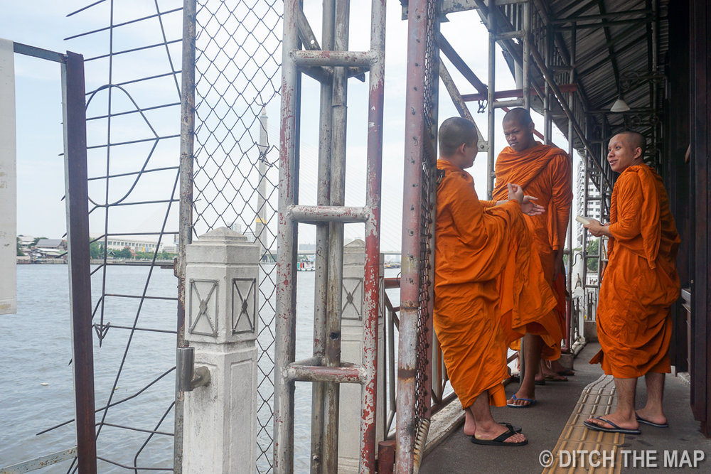 Monks in Bangkok, Thailand