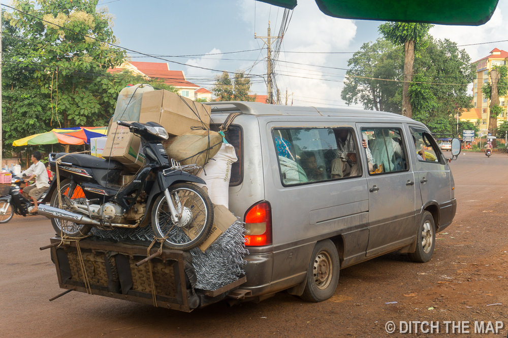 Taking a Minivan to Mondulkiri, Cambodia