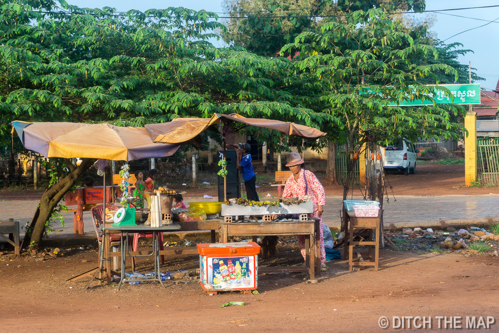 Stopping at a Local Market En Route to Mondulkiri, Cambodia